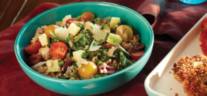 Buckwheat Bowls with Spinach and Balsamic Tahini Dressing