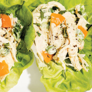 Curry Chicken Salad in Lettuce Cups