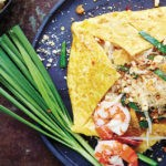 Egg-Wrapped Glass Noodle Pad Thai with Shrimp