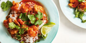 Red Curry Shrimp with Basil and Lime
